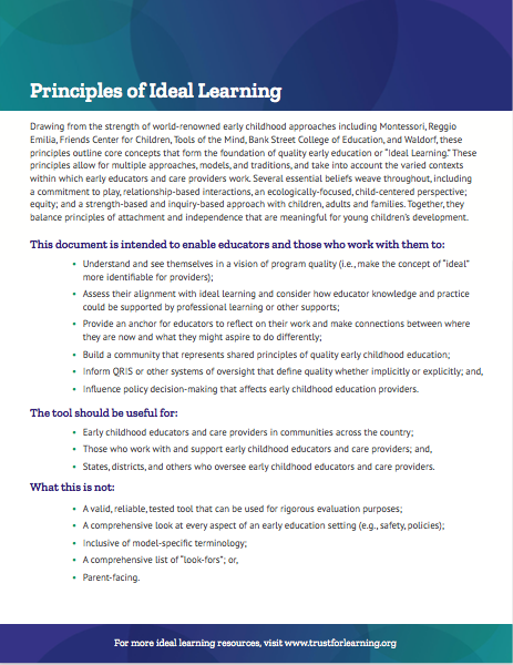 principles of ideal learning
